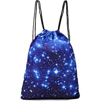 Women Men 3D Print Lightweight Drawstring Backpack Rucksack Shoulder Bags Yoga Dance Travel Gym Bag