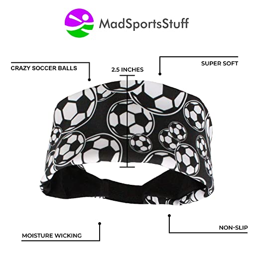 Amazon Madsportsstuff Crazy Soccer Headband With Soccer Balls