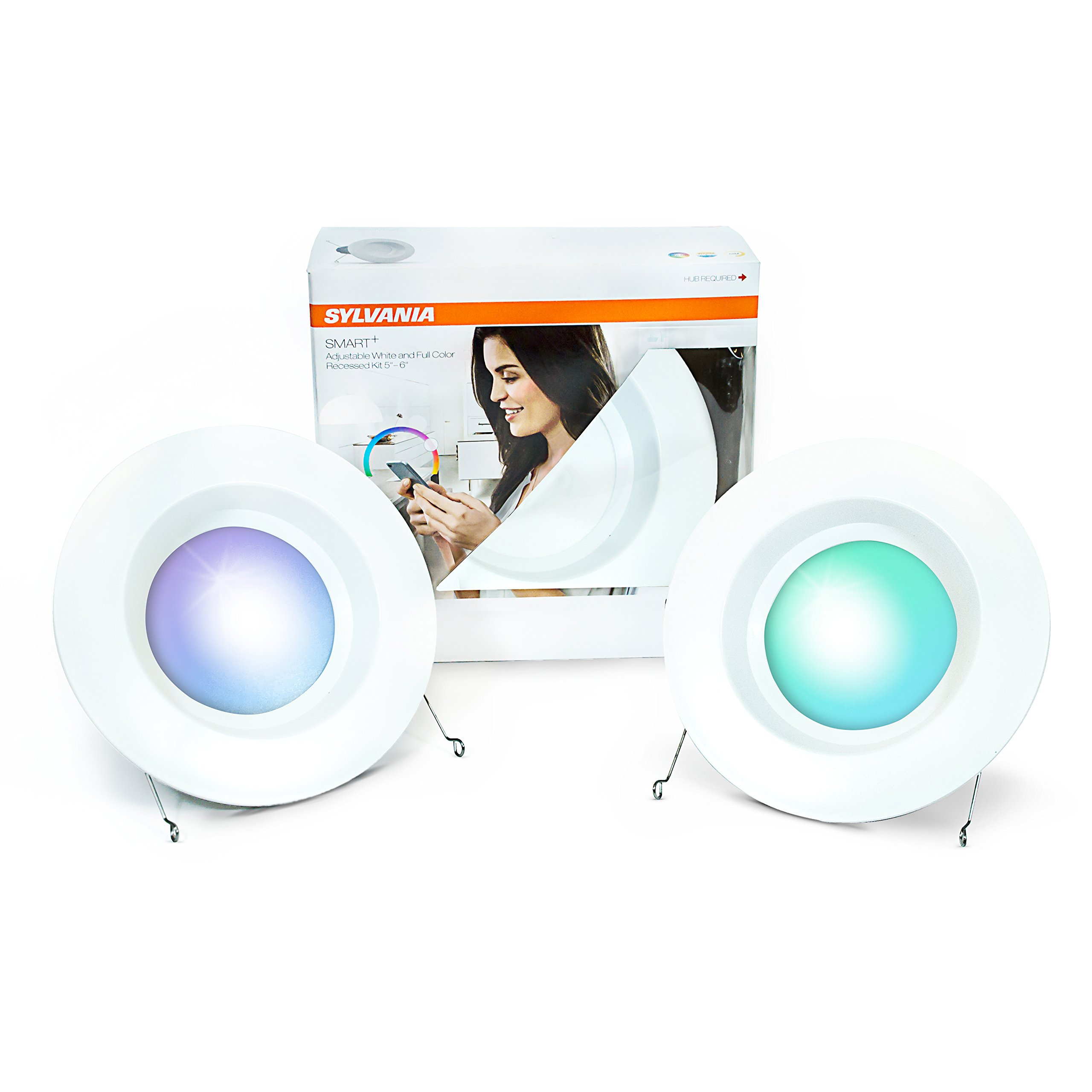 Sylvania Lightify 65W LED Smart Home Color/White Light Bulb (2 Pack)