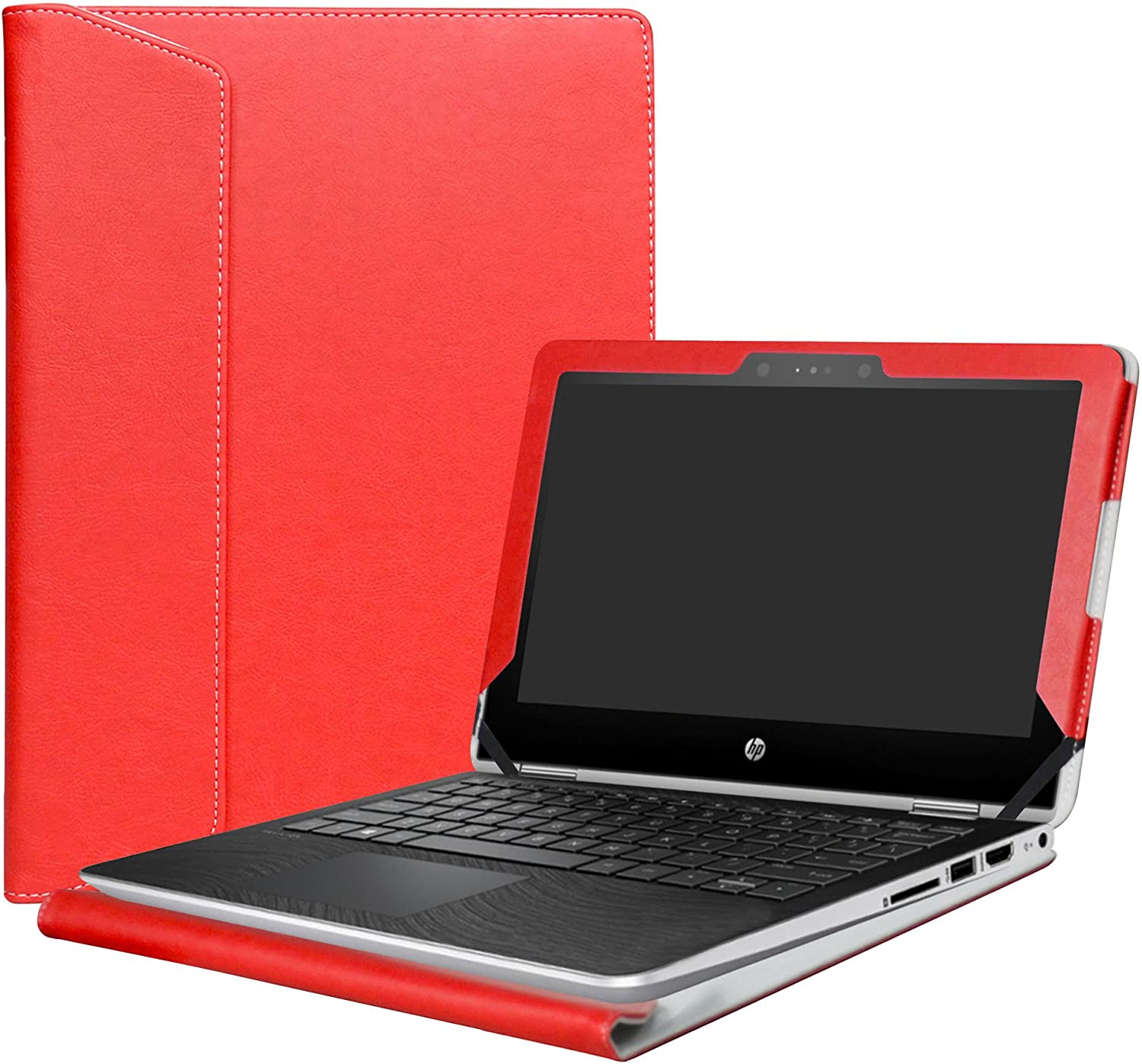 "Alapmk Protective Case Cover for 11.6"" HP Pavilion x360 11 11M-adXXX 11-adXXX 11M-AD013DX Series Laptop(Warning:Not fit Pavilion x360 11 11-kXXX 11-uXXX 11-nXXX Series),Red"