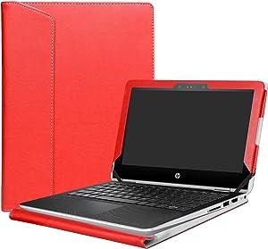 """Alapmk Protective Case Cover for 11.6"""" HP Pavilion x360 11 11M-adXXX 11-adXXX 11M-AD013DX Series Laptop(Warning:Not fit Pavilion x360 11 11-kXXX 11-uXXX 11-nXXX Series),Red"""