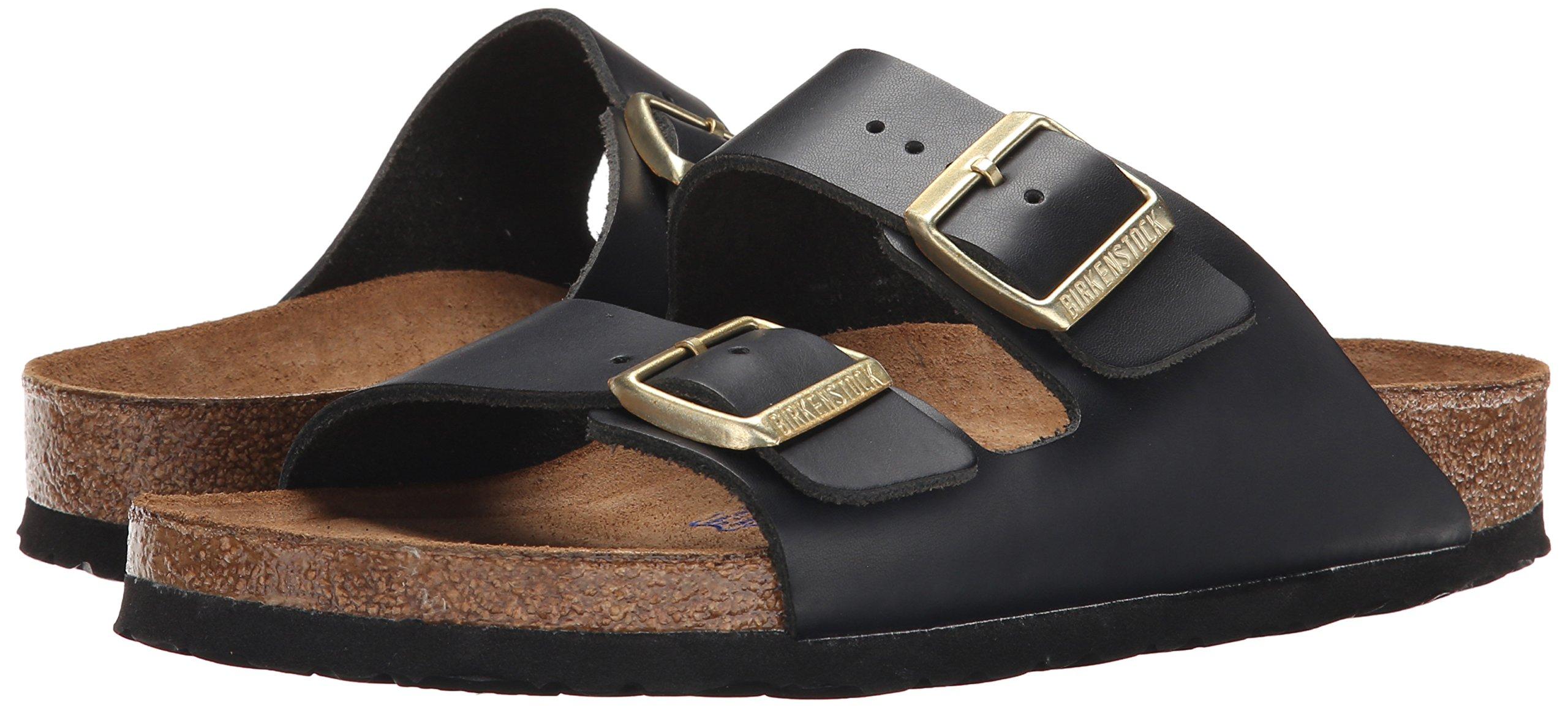 Birkenstock Unisex Arizona Hunter Black Leather Sandals - 9-9.5 2A(N) US Women/7-7.5 2A(N) US Men by Birkenstock (Image #6)