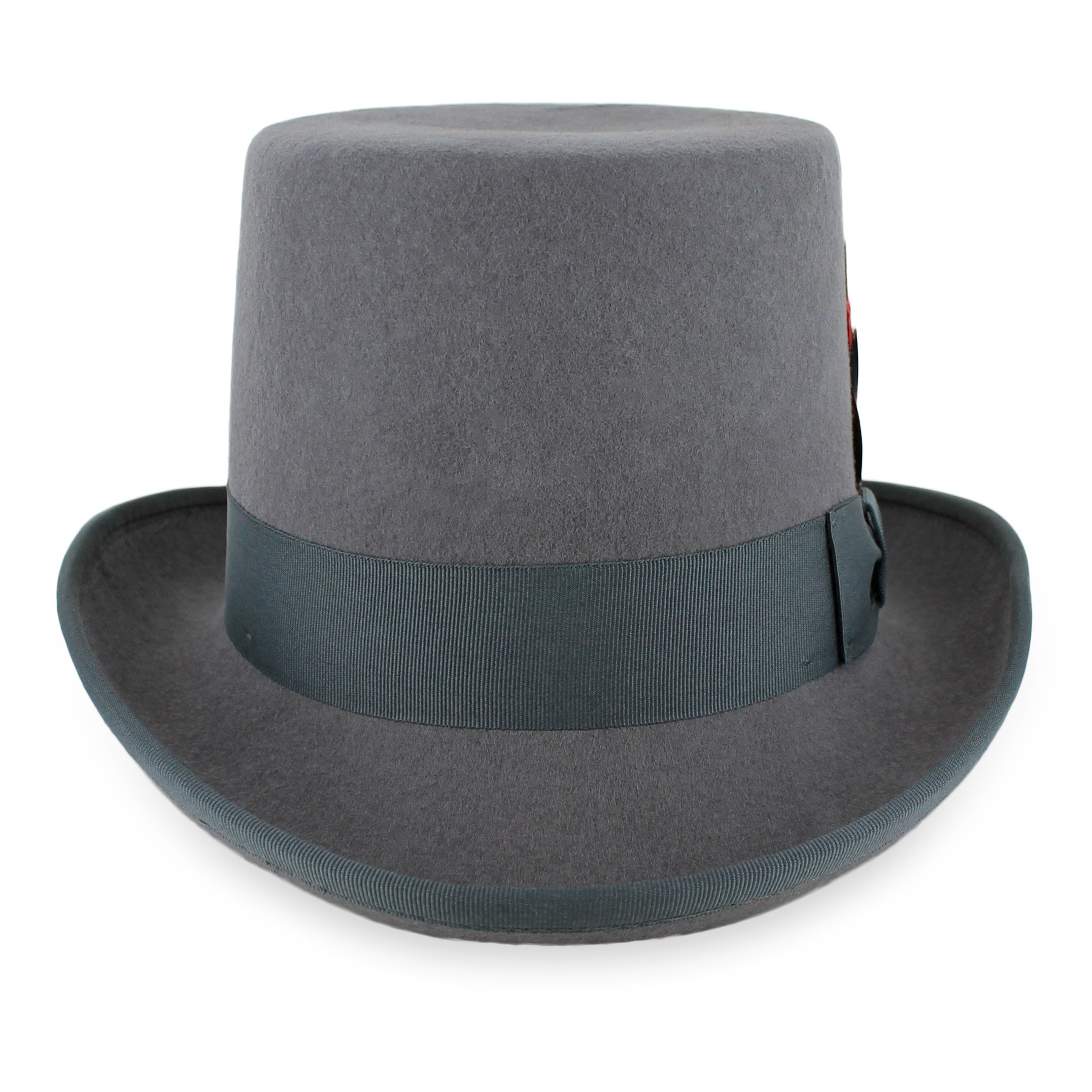 c6ccbeca609 Belfry Topper 100% Wool Satin Lined Men s Top Hat in Black Grey Navy Pearl  product
