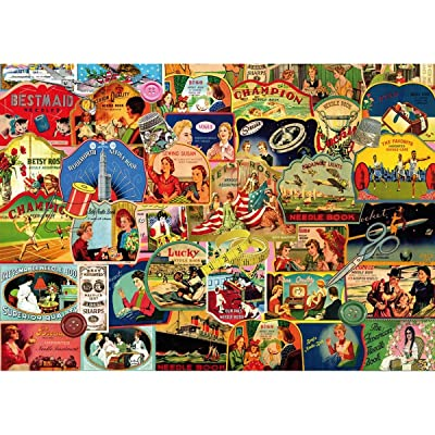 "Piatnik ""Vintage Needle Books Puzzle Jigsaw (1000 Piece): Toys & Games"