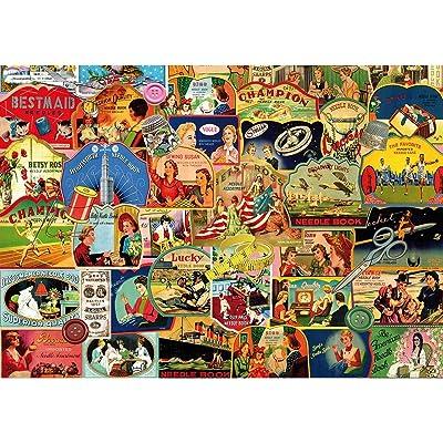 """Piatnik \""""Vintage Needle Books Puzzle Jigsaw (1000 Piece): Toys & Games [5Bkhe1003986]"""