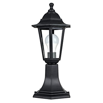 Traditional black ip44 outdoor garden lamp post lantern light traditional black ip44 outdoor garden lamp post lantern light mozeypictures Gallery