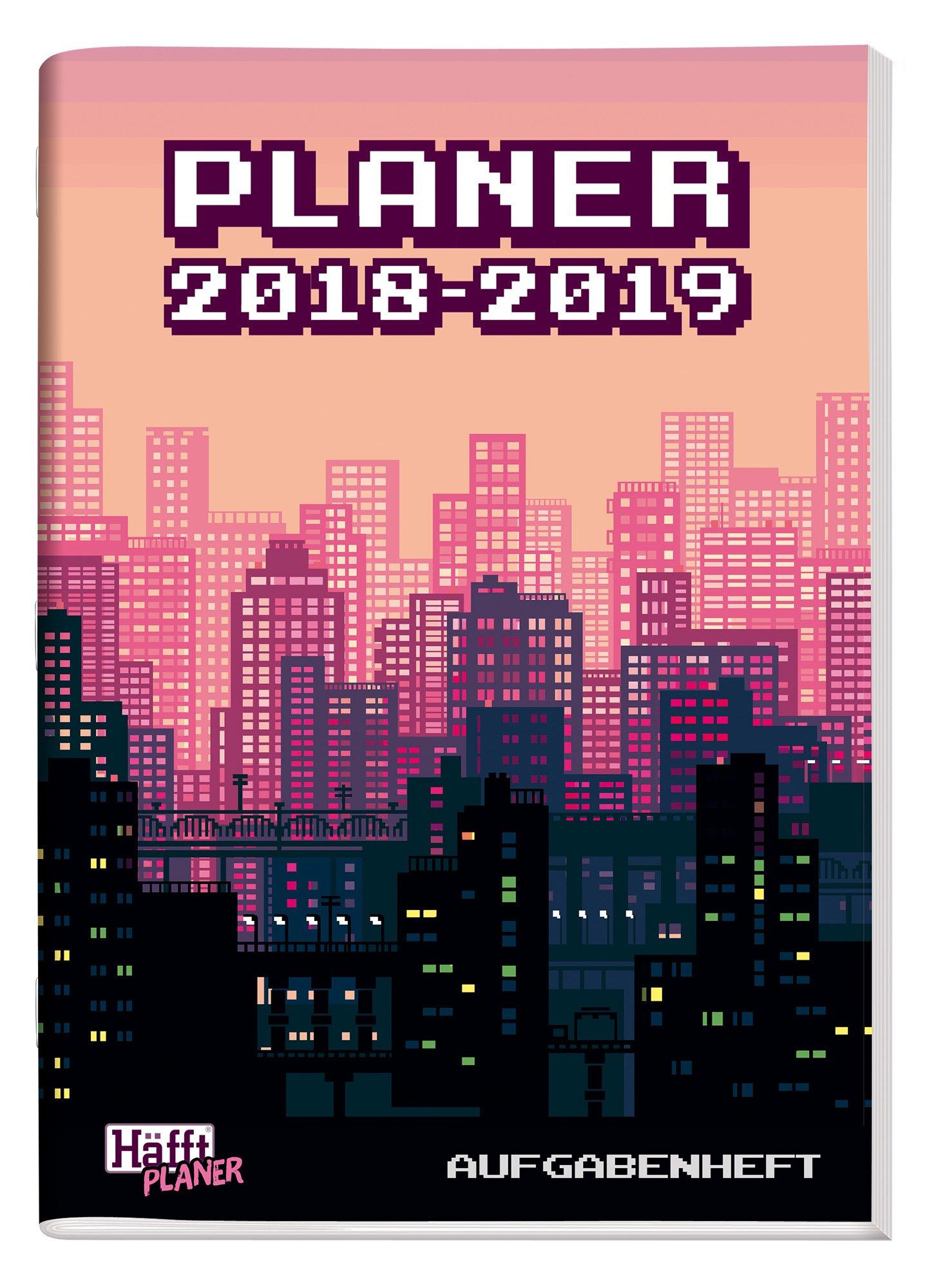 Häfft PLANER A5 2018/2019 [8-Bit City] Hausaufgabenheft/Schülerkalender/Schüler-Tagebuch/Schülerplaner