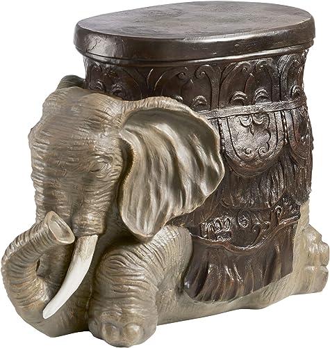 Design Toscano Sultans Elephant Boho Decor Side Table