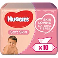 HUGGIES BABY WIPES SOFT SKIN, 56s x 10 (560 Wipes)