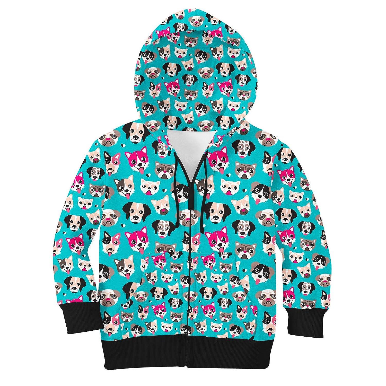 8 Puppy Party Kids Zip Up Hoodie Unisex