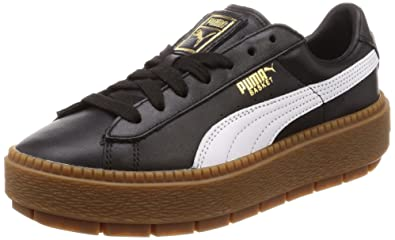 Puma Basket Platform Trace Leather Damen Sneaker