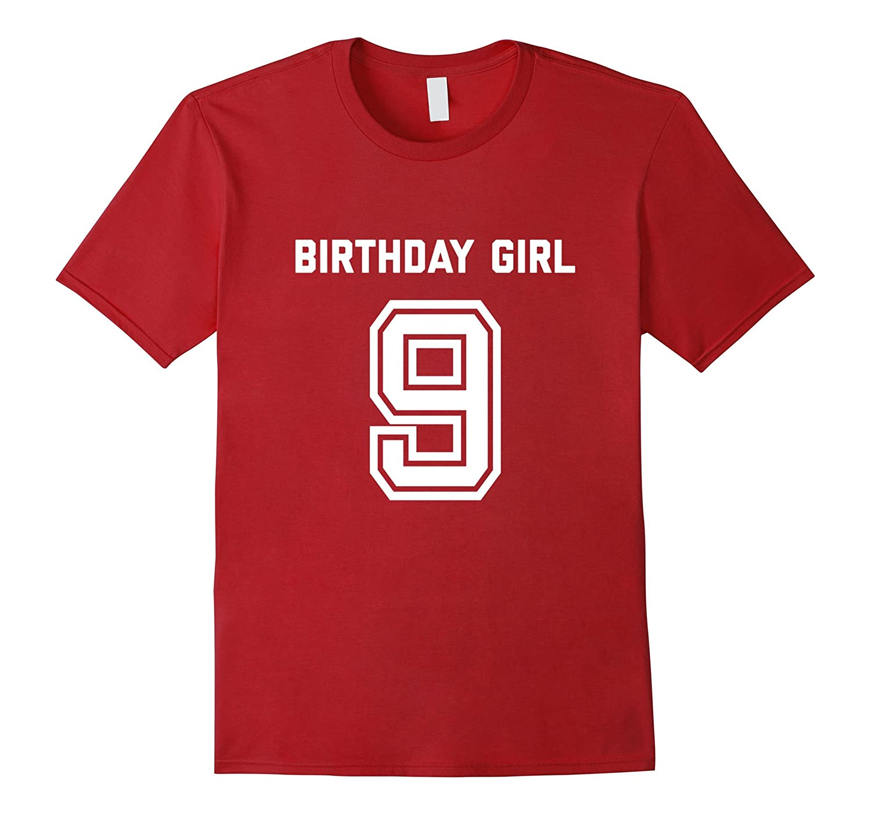 9th Birthday Shirt Gift Age 9 Year Old Girl Tshirt Girls Tee Gm