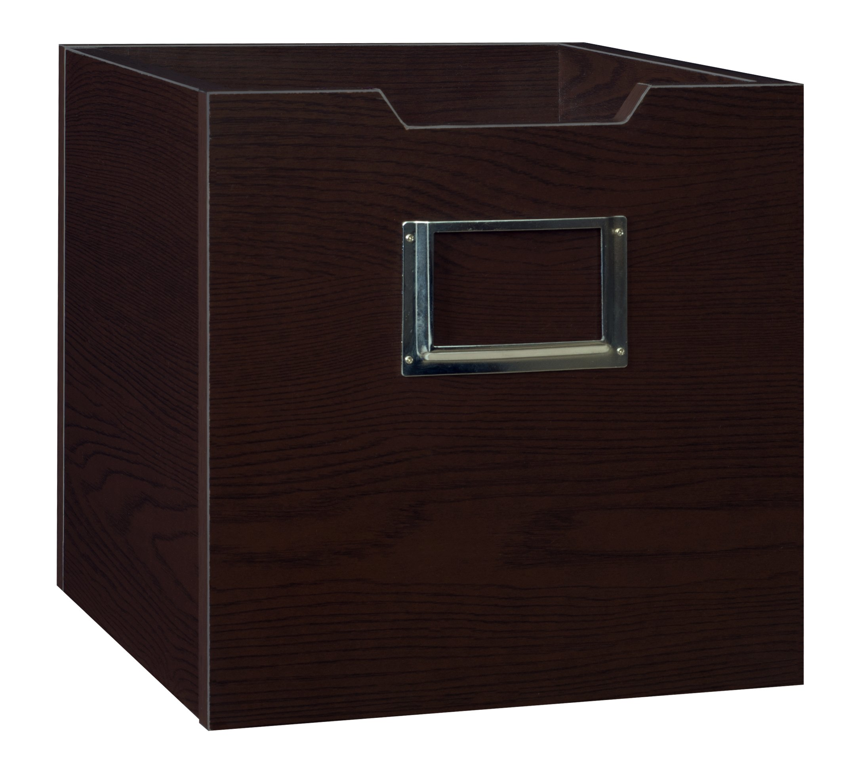 Niche HWTOTETF Cubo Wood Storage Bin, 12''