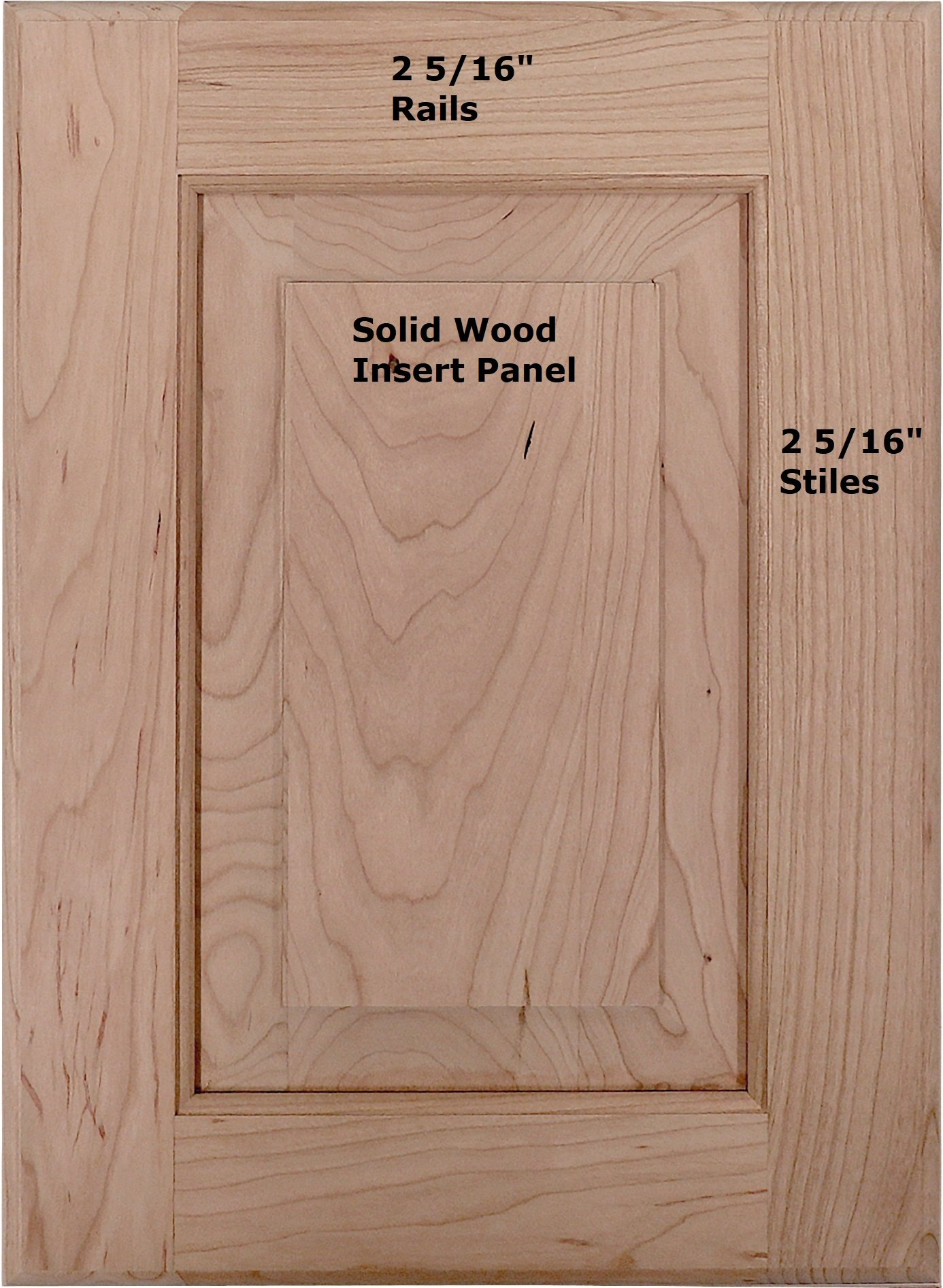 Cabinet Doors 'N' More 10'' X 22'' Unfinished Cherry Raised Square Panel Kitchen Cabinet Door