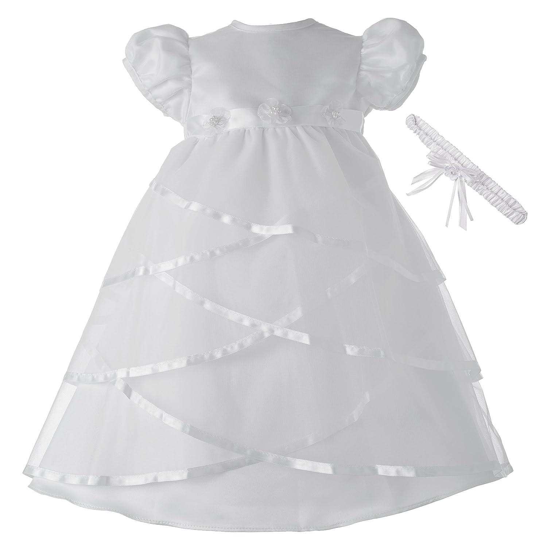 Amazon.com: Lauren Madison Baby-Girls Newborn Satin Criss Cross ...