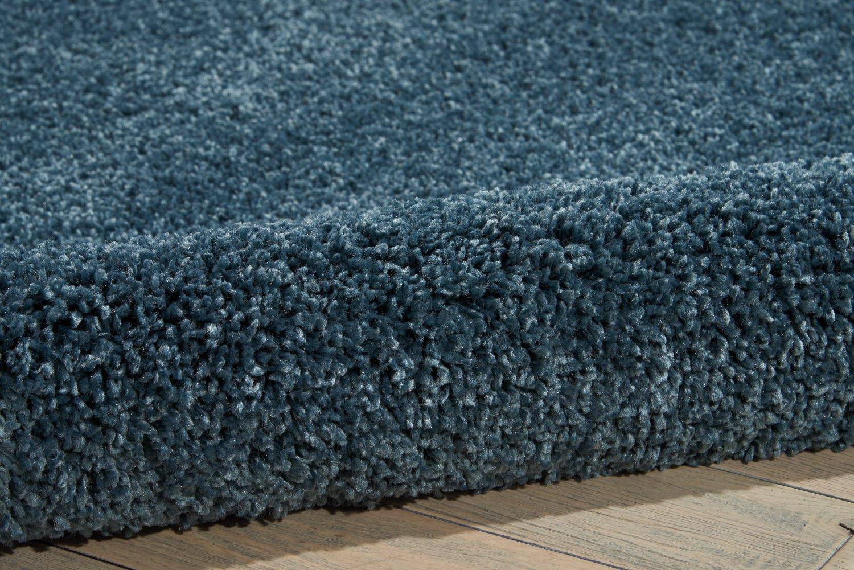 Nourison MSG01 Malibu Shag Area Rug, 7'10'' XROUND, BLUE by Nourison (Image #4)