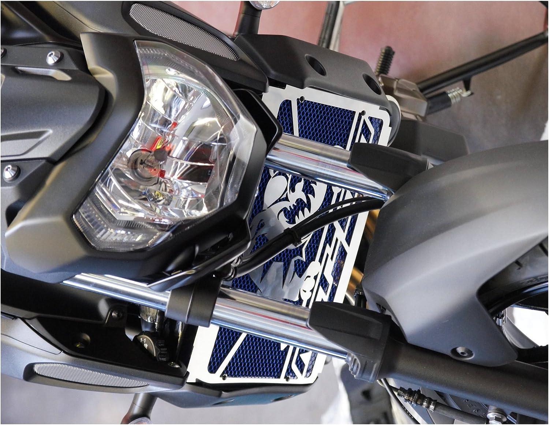 Grillage Anti gravillon alu Cache radiateur//Grille de radiateur MT-07 Tous mill/ésimes Noir Mat Design Bulldog