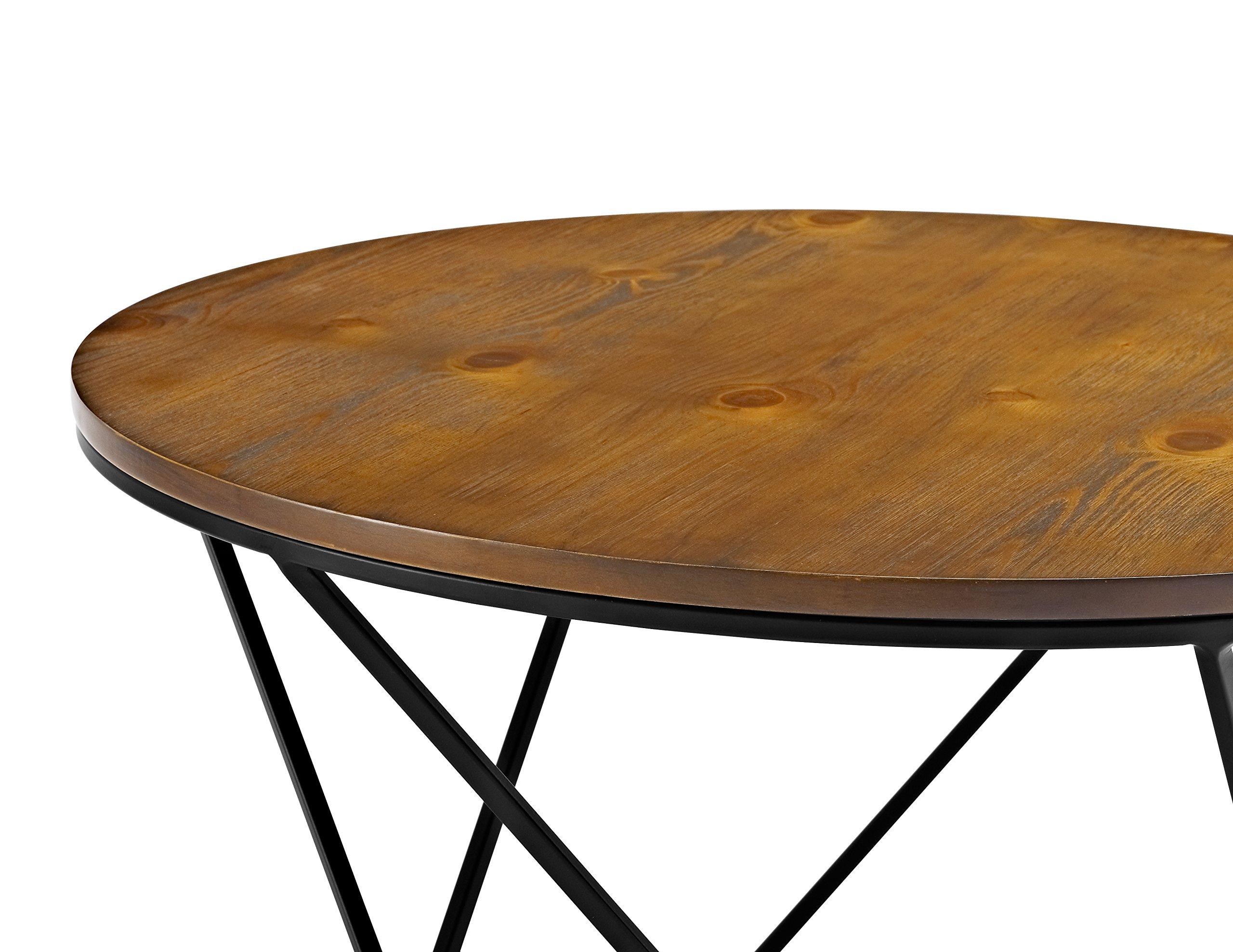 WE Furniture Geometric Wood Nesting Coffee Tables - Oak/Black by WE Furniture (Image #4)