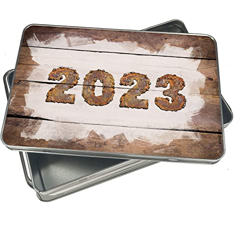 Amazon com: NEONBLOND Cookie Box 2023 Rusty Vintage Metal