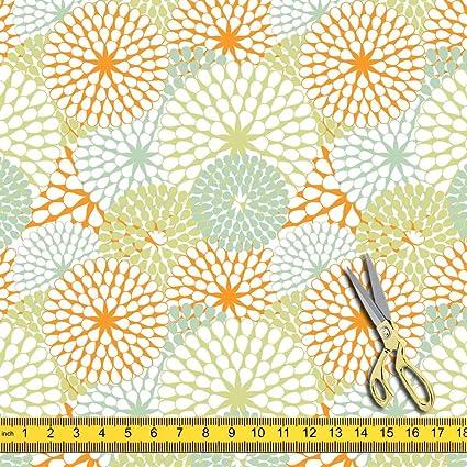 afd5dfae46a Amazon.com  AZ Floral Texture Satin Fabric Dress Material ...