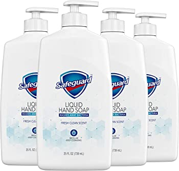 4-Pack Safeguard Fresh Clean Scent Liquid Hand Soap 25 Oz