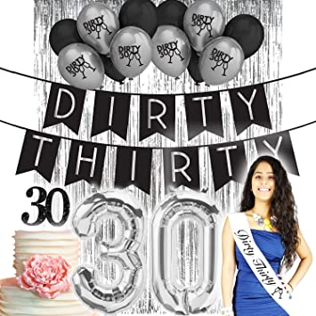 Dirty Thirty 30th Birthday Decorations For Her