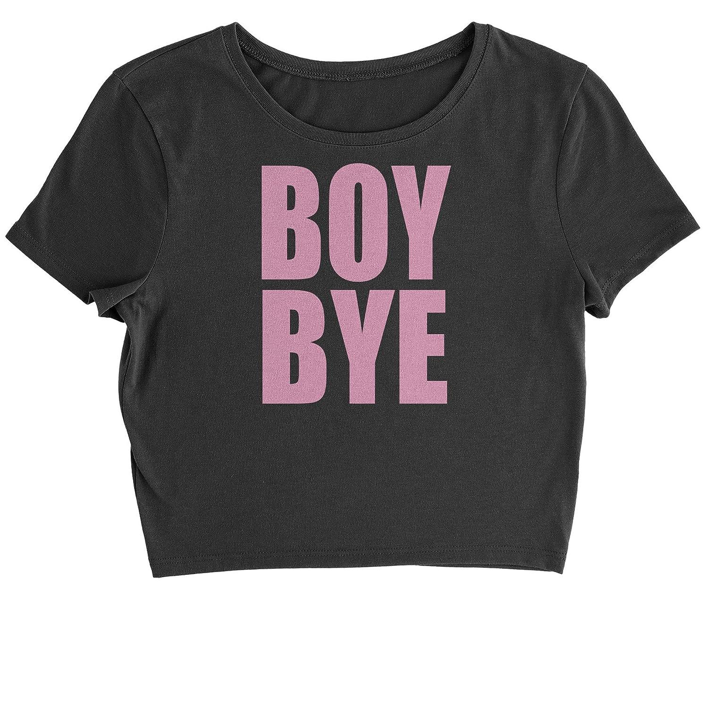 4b26dedb Amazon.com: Expression Tees Boy Bye Pink Lemonade Womens Cropped T-Shirt:  Clothing