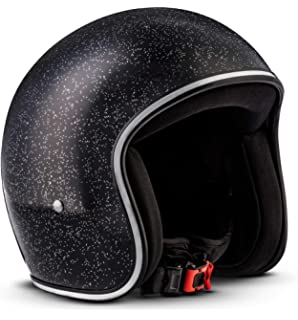 Rebel R2-Flakes – Casco retro de motocicleta scooter Vespa, incluye bolsa de…