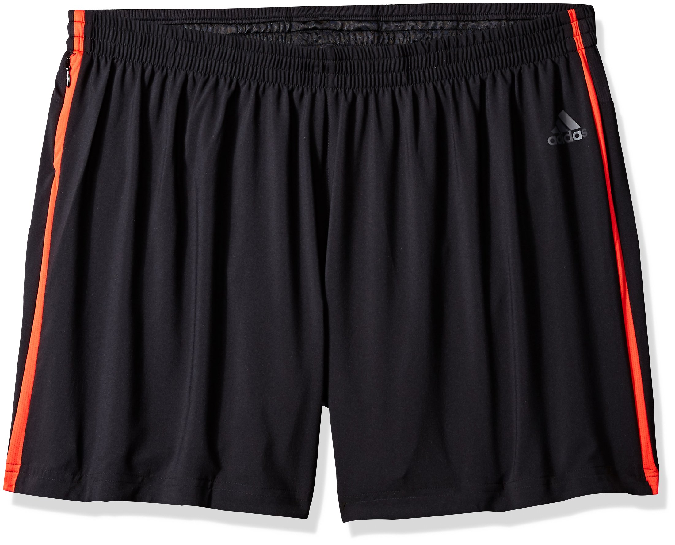 adidas Men's Running Response Shorts, Black/Hi-Res Red, X-Large/5''