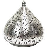 Orientalische lampe pendelleuchte silber qytura 42cm e27 lampenfassung marokkanische design for Marokkanische tischlampe