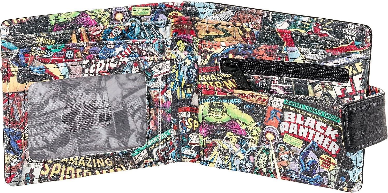 Marvel Comics - Cartera para hombre Unisex adulto Negro Inside Print: Amazon.es: Ropa y accesorios