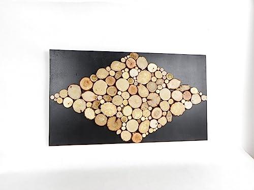 Tableau en bois brut scandinave, décoration murale, tableau