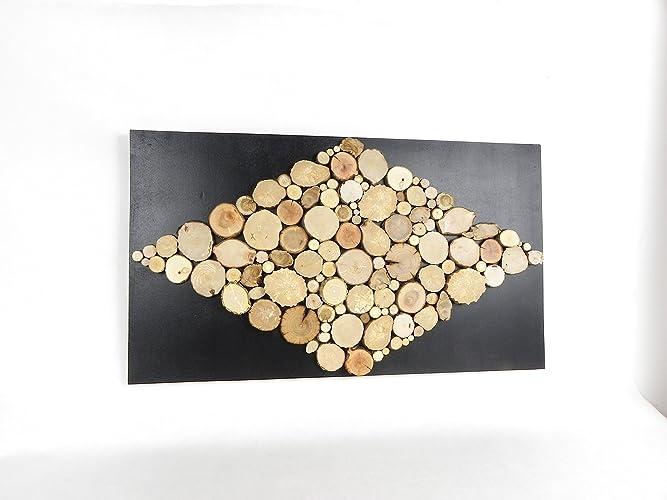 Tableau en bois brut scandinave, décoration murale, tableau de ...