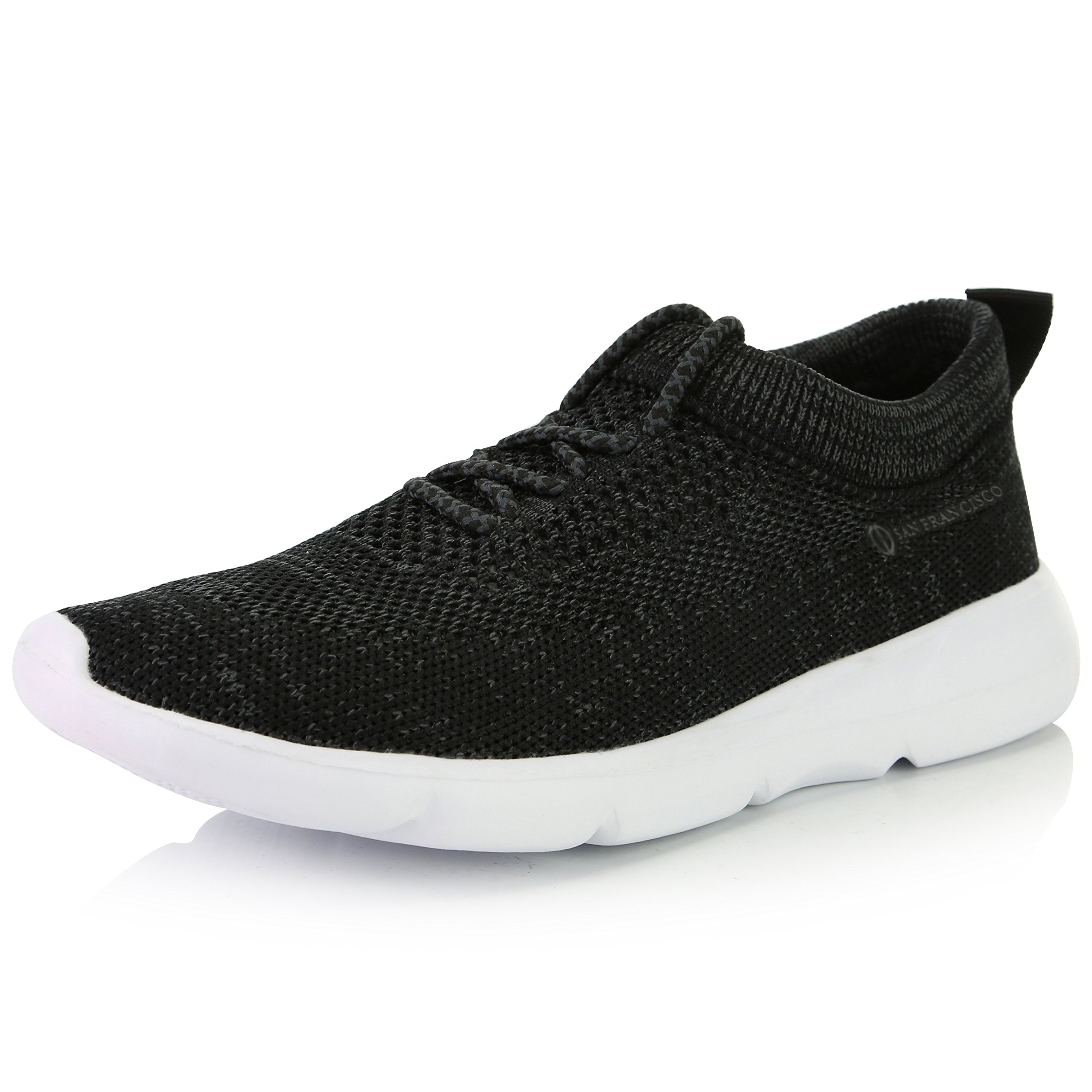 DailyShoes Women's Mesh Slip-on Athletic Shoes with Fit-6207L Memory Foam Insoles Comfortable Casual Sneakers, Black Mesh, 9 B(M) US