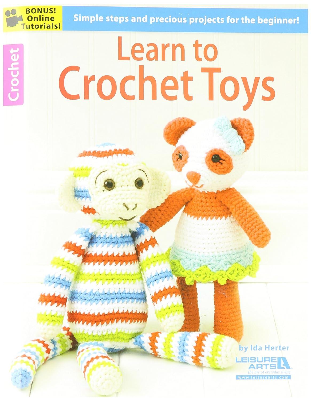 LEISURE ARTS LA-06188 Learn to Crochet Toys Book