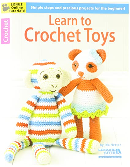 Amazon Leisure Arts La 06188 Learn To Crochet Toys Book Arts