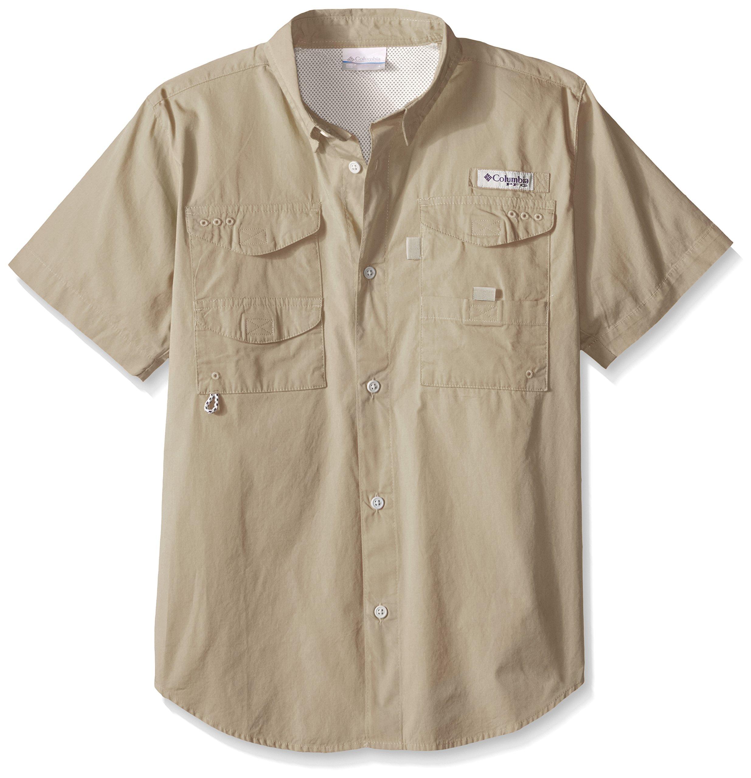 Columbia Boys Bonehead Short Sleeve Shirt, Fossil, X-Large