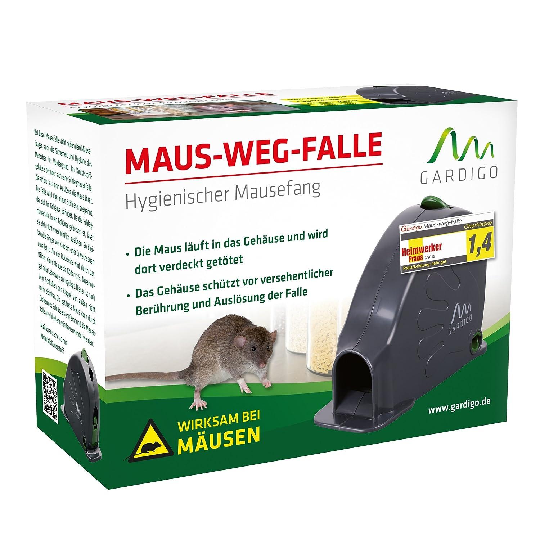 Gardigo Trampa para ratones Ratonera golpe jaula de Alfombrilla contra los ratones higiénica, practicamente e seguro