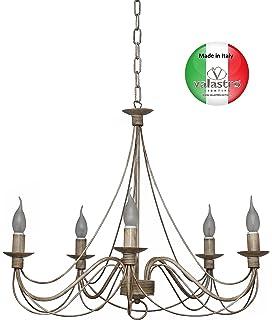 Made in Italy VALFB34135/5_BO Lampada Ferro battuto Illuminazione da ...