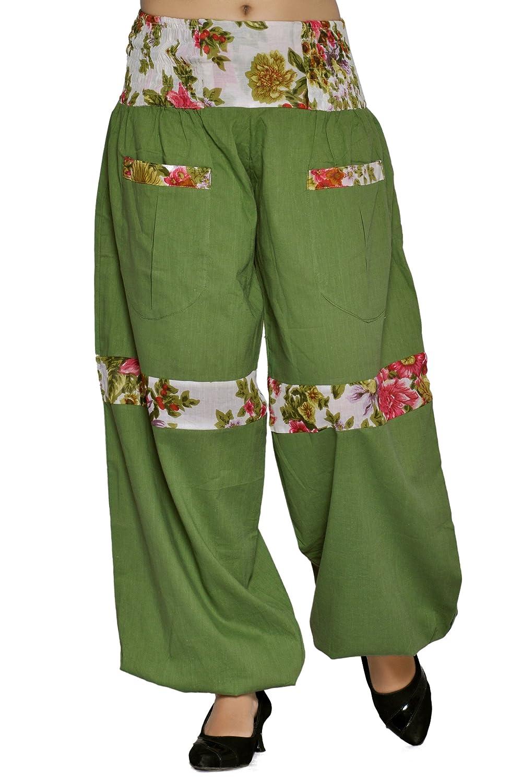 VB Originals Women's Cotton Floral Printed Pockets Harem Pants