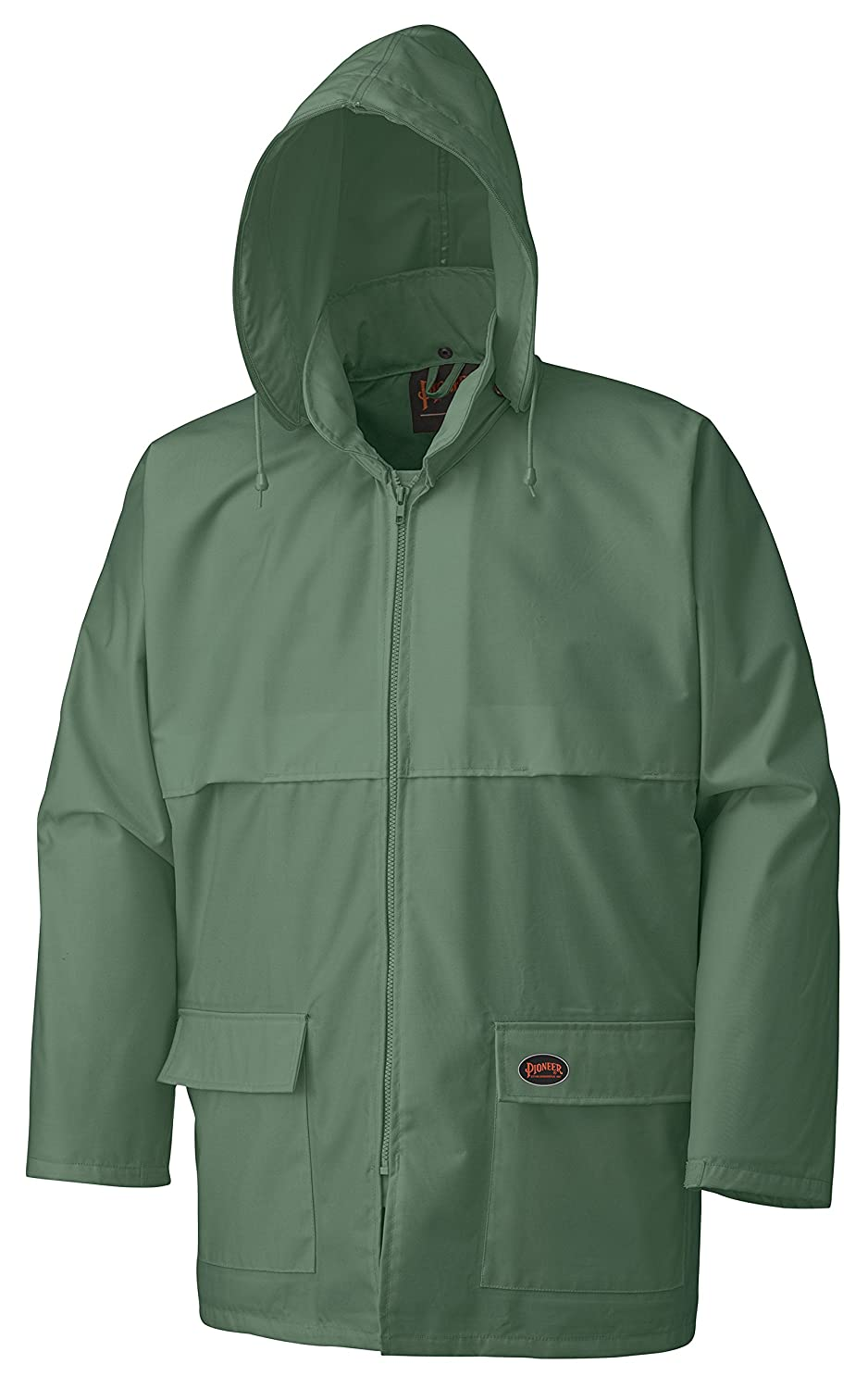 Pioneer V3040340-S Tree Planter Heavy-Duty Rain Jacket, 2 Large Cargo Pockets, Green, S