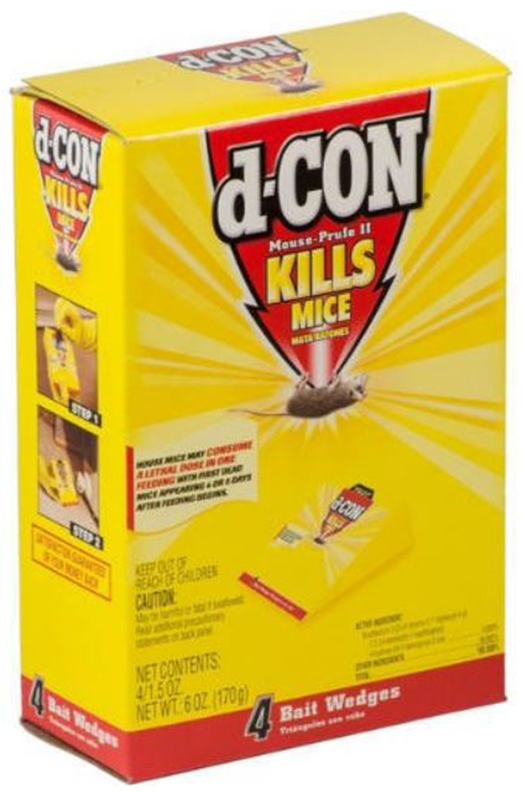 D-Con Mouse Prufe II Multipack 4 Count, 1.5 Ounce Wedges (Pack of 4)
