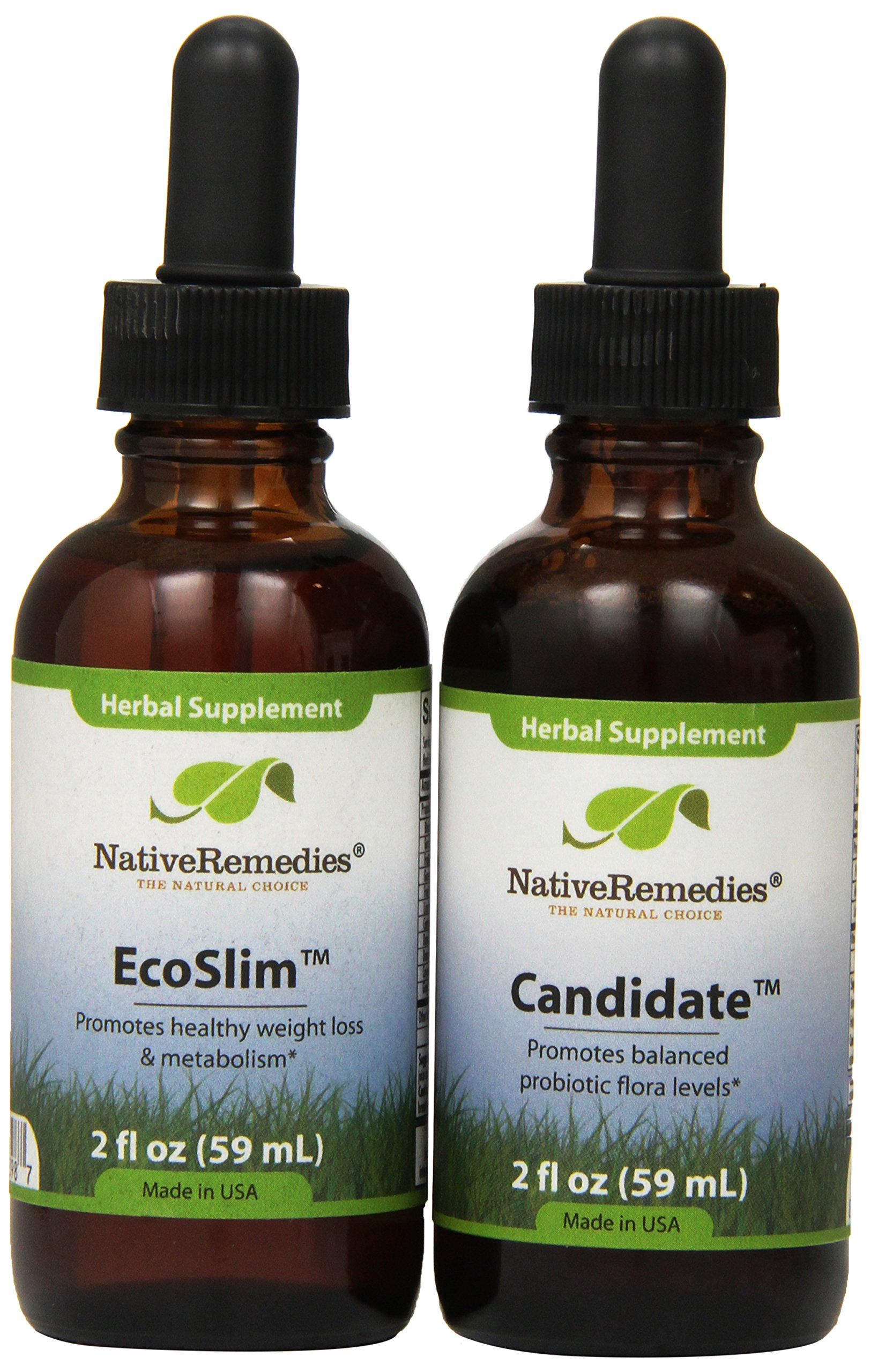Native Remedies Candidate and EcoSlim ComboPack for effective weight loss and treatment of Candida and yeast infections by Native Remedies