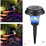 Solar Mosquito Zapper, Wrcibo Mosquito Killer Bug Zapper Electronic Insect Worm Killer LED Solar Powered Outdoor Garden Lawn Camping Lamp Whole Night Protector 2 in 1 Zapper and Light