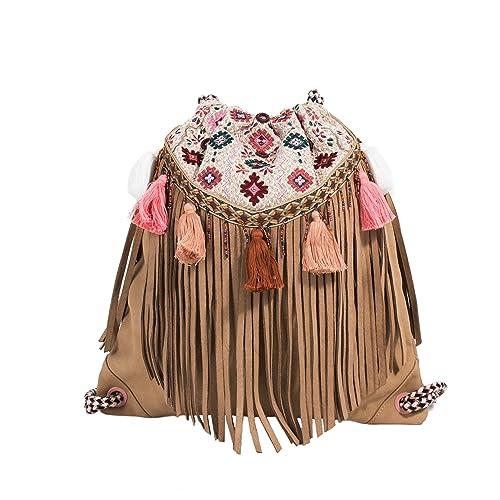 Parfois - Mochila Folky Rose - Mujeres - Tallas M - Crudo: Amazon.es: Zapatos y complementos