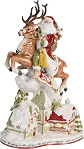 Fitz and Floyd Damask Holiday Collectible Figurine, 19-Inch, Multicolored