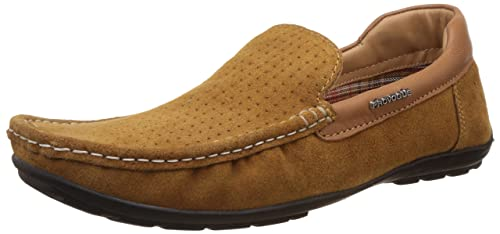 a0132263ea8 Image Unavailable. Image not available for. Colour  Provogue Men s Tan  Leather Loafers ...