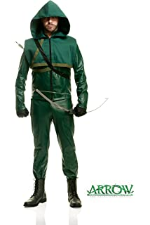 Amazon.com: Rubies Arrow Deluxe Hoodie and Gloves, Black ...