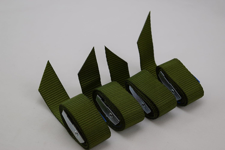 be4To - Cinchas (4 unidades, con cierre de apriete 0,55 m x 18 mm, calidad profesional)