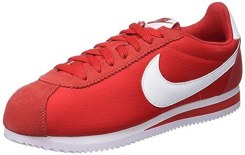 best sneakers 6eea8 2315e Nike Classic Cortez Nylon, Scarpe da Fitness Uomo, Rosso (University  Red White